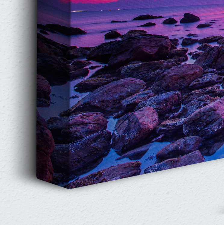 Purple Sunrise 5 Piece Canvas