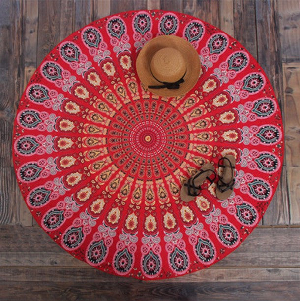 Bohemian Round tapestry