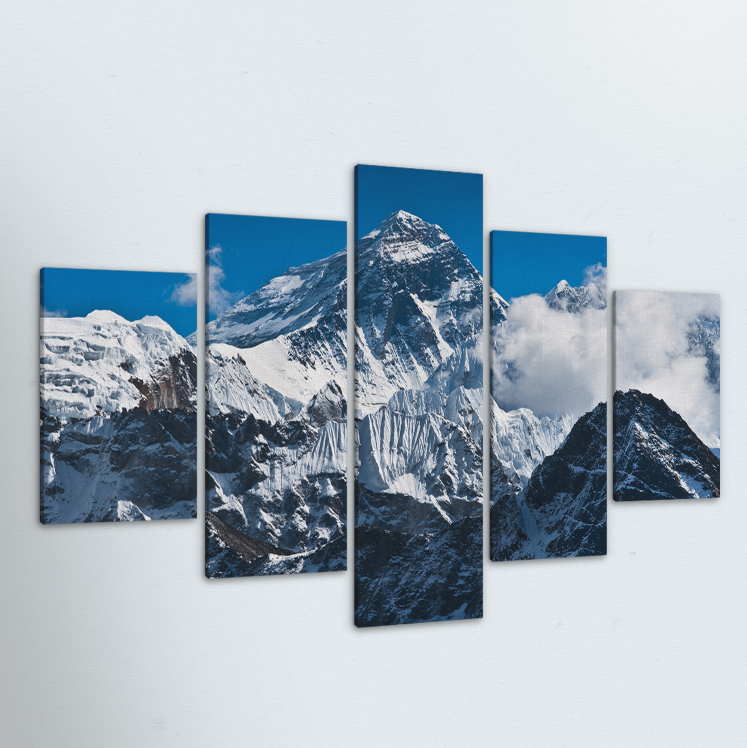 Mount Everest 5 Piece Canvas
