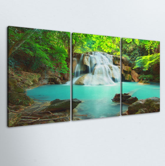Gentle Falls 3 Piece Canvas