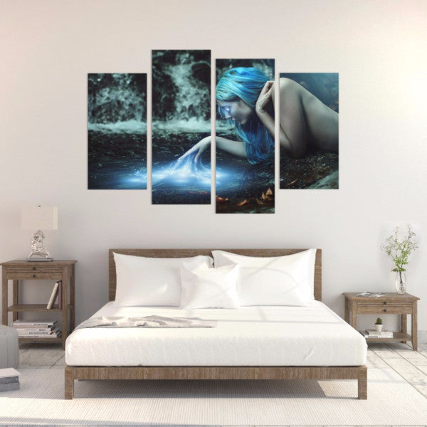 Blue Fantasy 4 Piece Canvas