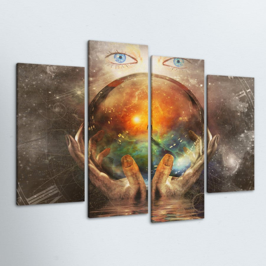 Mystic Ball 4 Piece Canvas