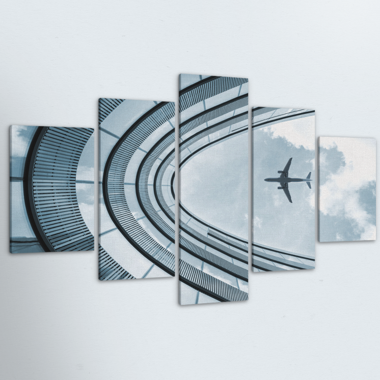 Plane 5 Piece Canvas