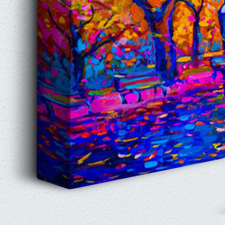 Trees Of Color 3 Piece Canvas