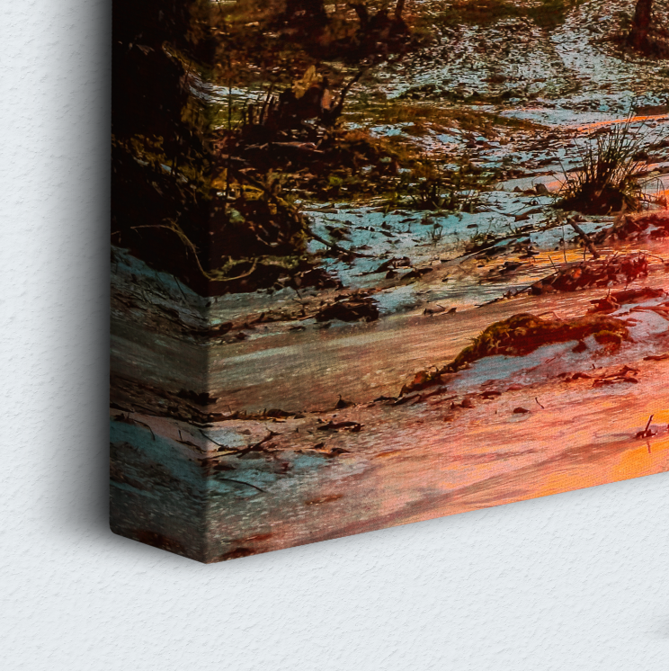 Forest Sunset 5 Piece Canvas