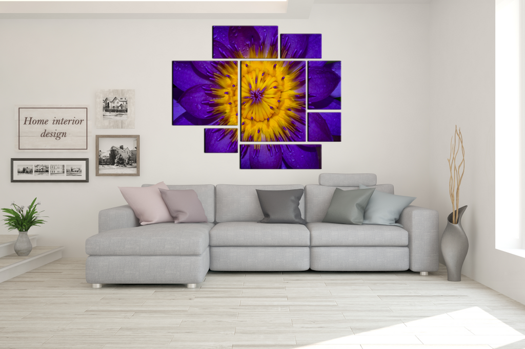 Water Lily 8 Piece Painting