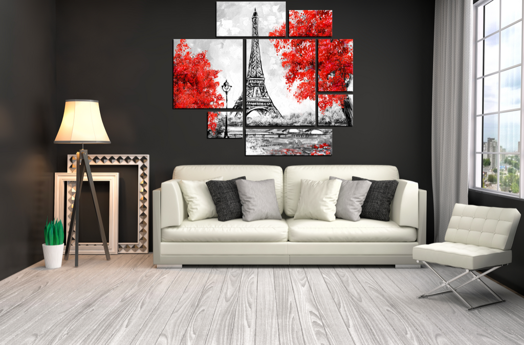 Paris 8 Piece Painting