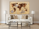 World Destinations Map panel painting