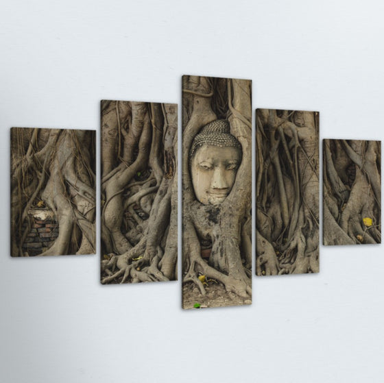 Buddha Roots 5 Piece Canvas