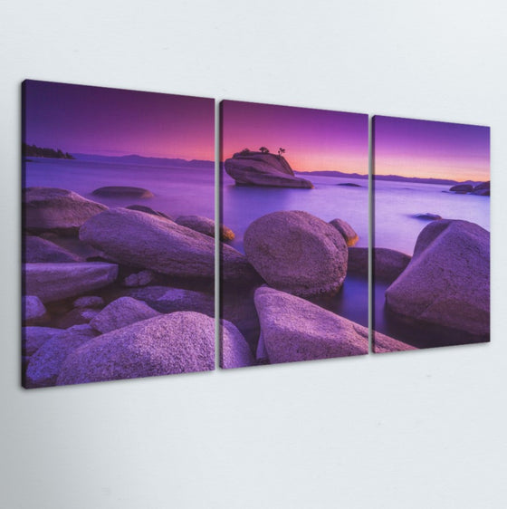 Purple Skies 3 Piece Canvas