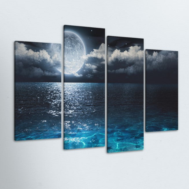 Bright Moon 4 Piece Canvas