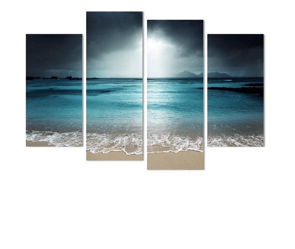 Calm Beach 4 Piece Canvas