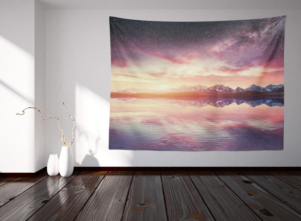 Pink Galaxy Tapestry