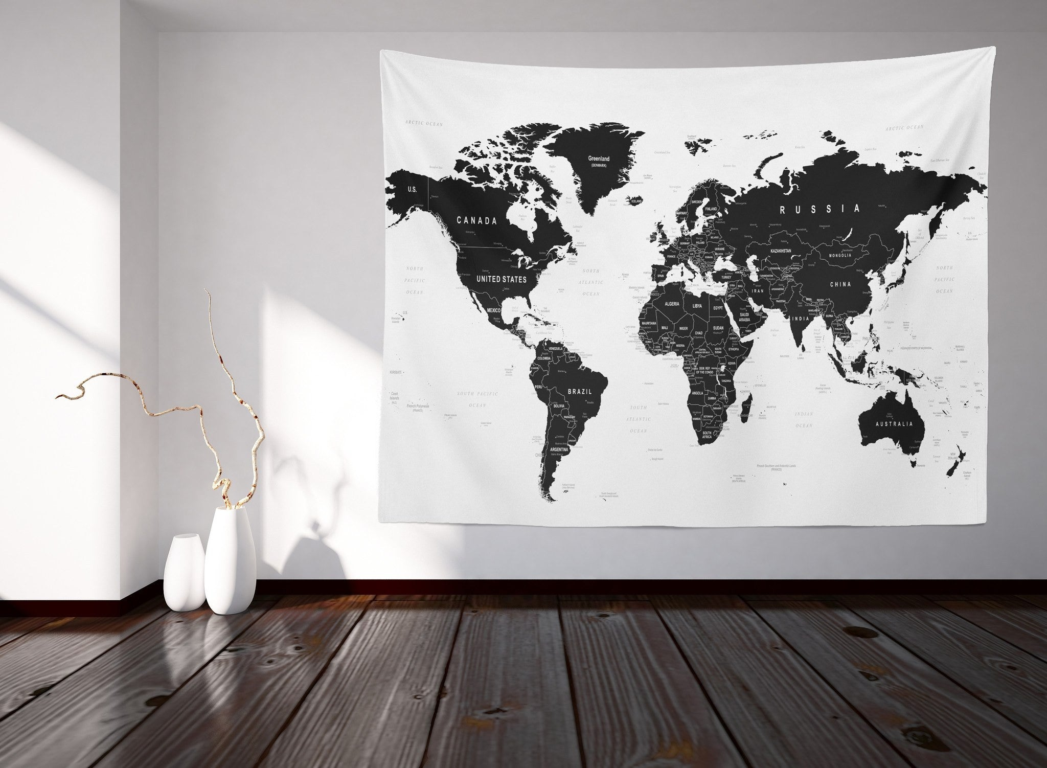 World map tapestry readysetdecor world map tapestry gumiabroncs Images