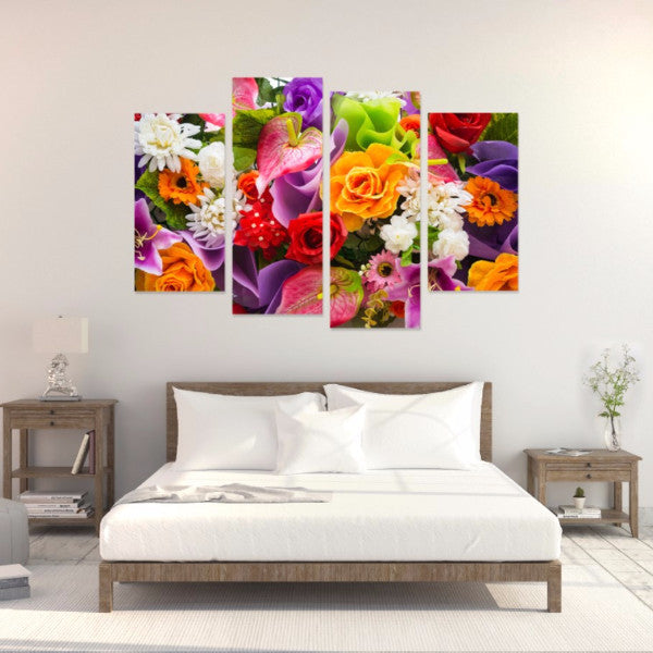 Bouquet 4 Piece Canvas