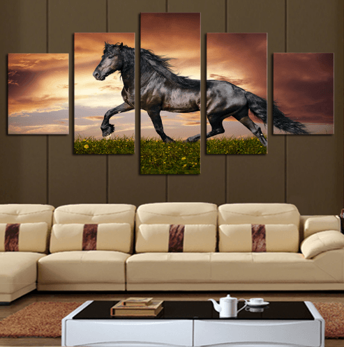 Majestic Stallion 5 Piece Canvas