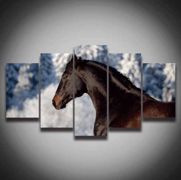 Horse Portrait 5 Piece Canvas