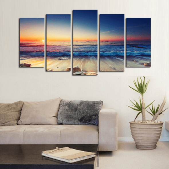 Ocean Sunrise Panel Painting