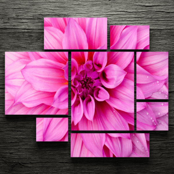 Pink Flower 8 Piece Painting