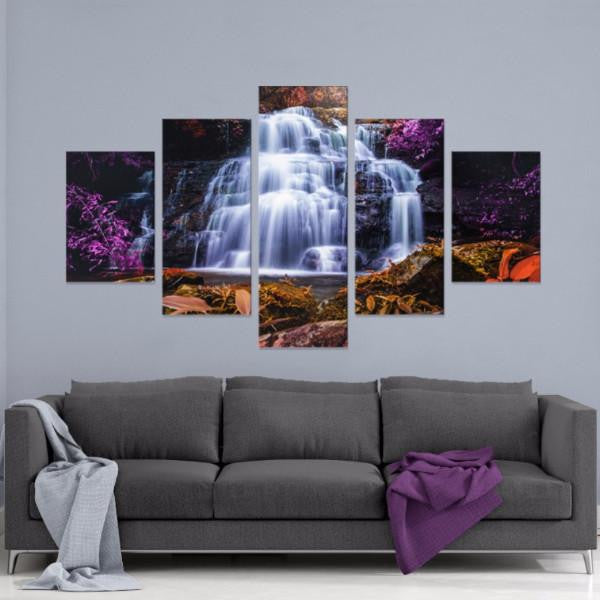 Purple Oasis 5 Piece Canvas