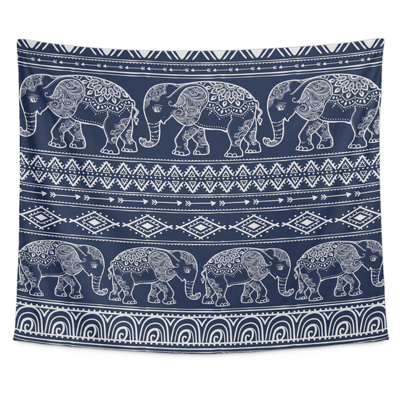 March Of The Elephants Tapestry