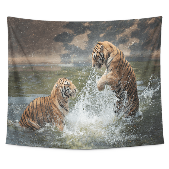 Clash of the Tigers Tapestry