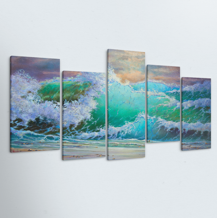 Shore Break 5 Piece Canvas