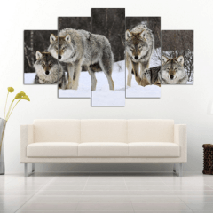 Wolf Pack Panel Painting