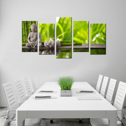 Buddha 5 Piece Canvas