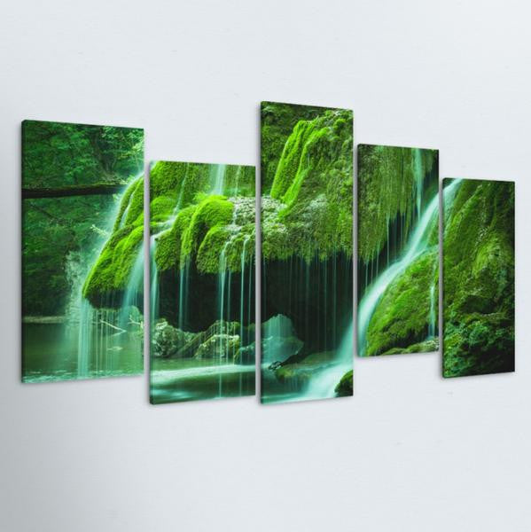 Green Oasis 5 Piece Canvas