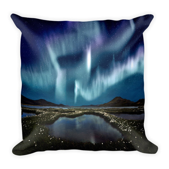 Blue Aurora Pillow