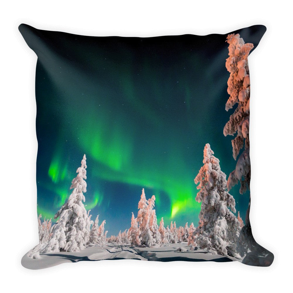 Green Aurora Pillow
