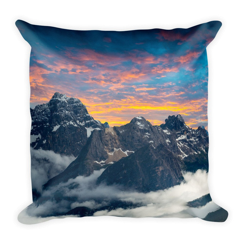 Candy Mountains Pillow