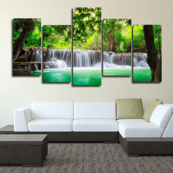 5 Piece Waterfall Panel Painting