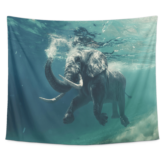 Evening Swim Tapestry