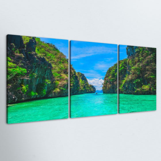 Path To Paradise 3 Piece Canvas
