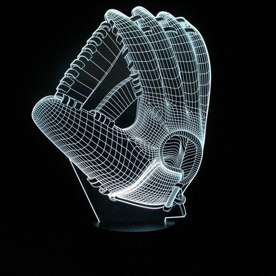 3D  Baseball Glove Lamp