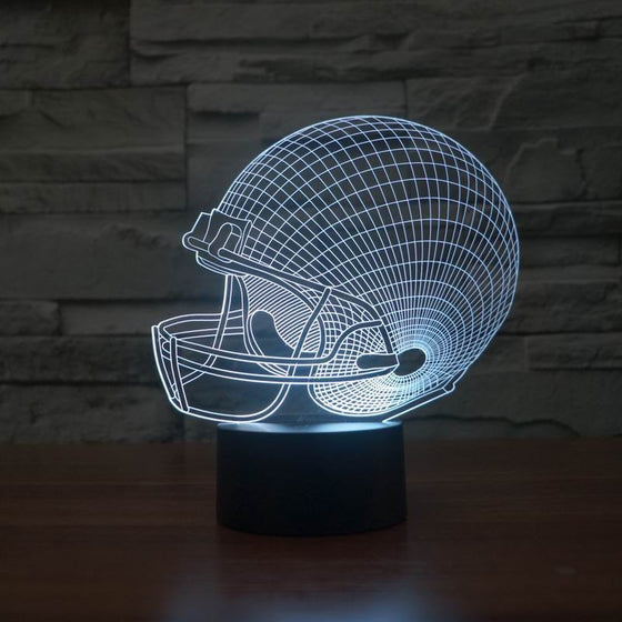 3D Football Helmet Lamp