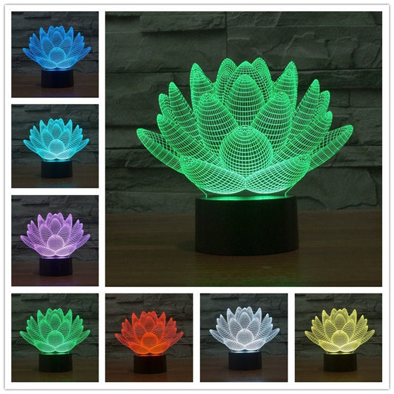 3D Lotus Flower Lamp