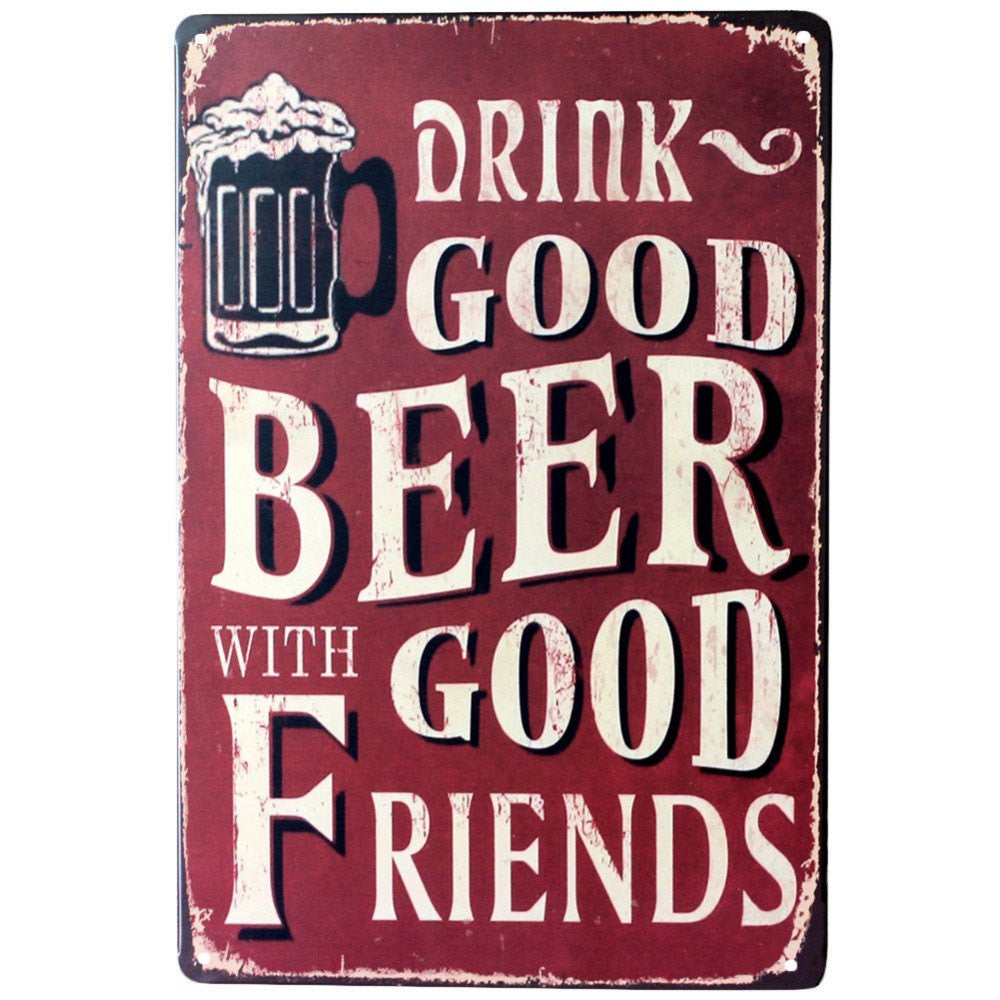Good Beer Tin Poster