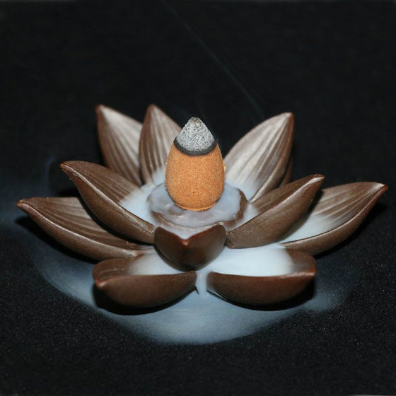Lotus Dual Incense Burner