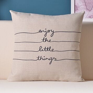 Enjoy The Little Things Throw Pillows