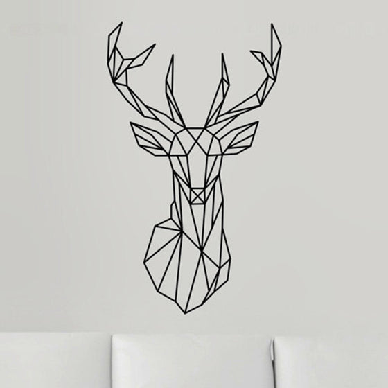 Geometric Deer Sticker