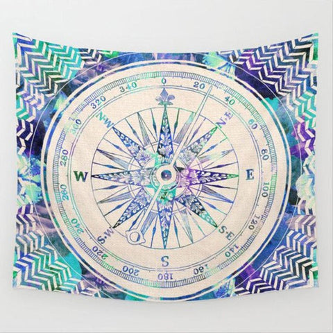 Bright Compass Tapestry