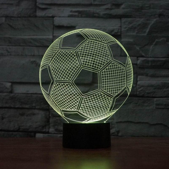 3D Soccer Ball Lamp