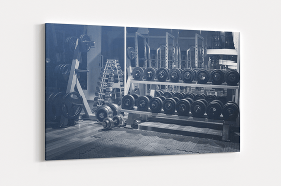 Weight Rack Single Canvas