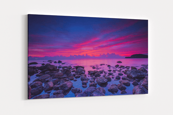 Purple Sunrise Single Canvas