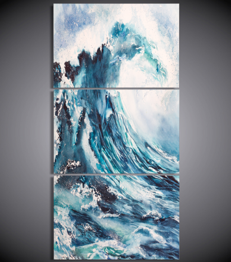 Wavelength 3 Piece Canvas