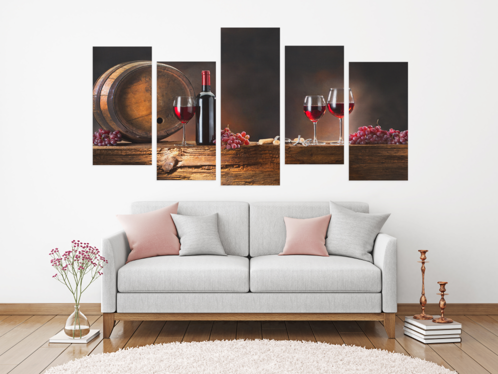 Wine 5 Piece Canvas