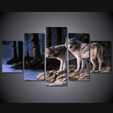 Wolf Panel Painting